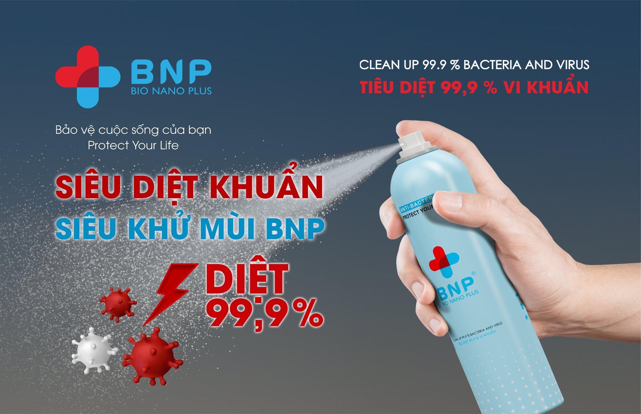 xịt rửa tay sát khuẩn BNP
